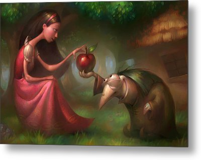 Snow White Metal Print by Adam Ford