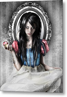 Snow White Metal Print by Judas Art