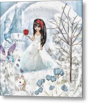 Snow White Metal Print by Mo T