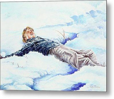Snowball War Metal Print