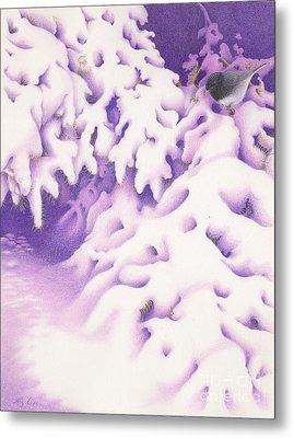 Snowbird Metal Print by Elizabeth Dobbs