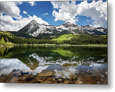 Snowcapped East Beckwith Mountain Metal Print by Joey Hayes