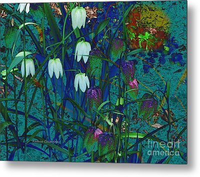 Snowdrops Metal Print by Kathie Chicoine
