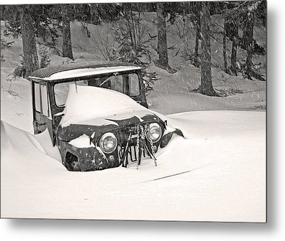 Metal Print featuring the photograph Snowed In by Barbara West