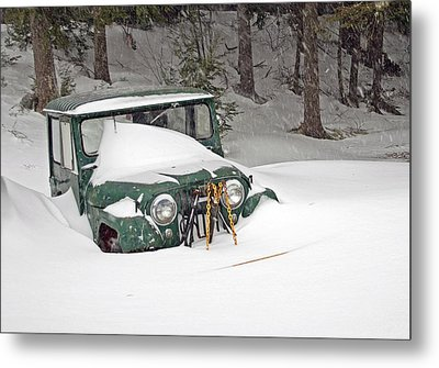 Metal Print featuring the photograph Snowed In - Color by Barbara West