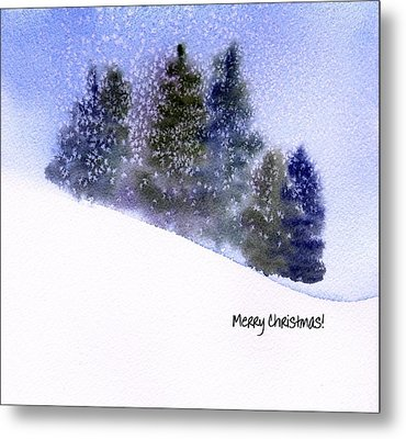 Metal Print featuring the painting Snowfall by Anne Duke