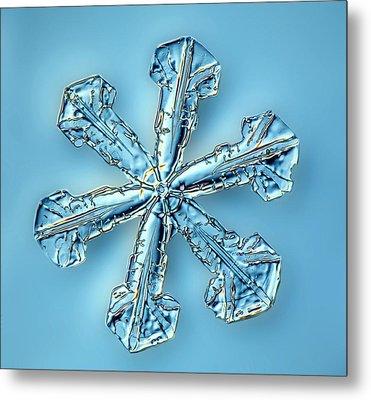 Snowflake Crystal Metal Print