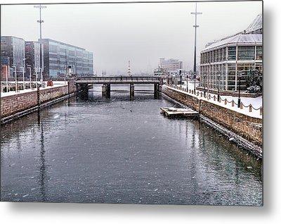 Winter Bridge Metal Print by EXparte SE
