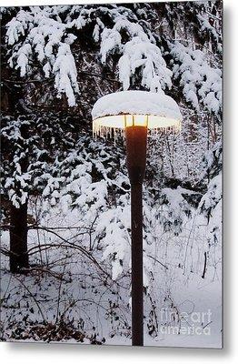 Snowlight Metal Print by Avis  Noelle