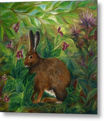 Snowshoe Hare Metal Print by FT McKinstry