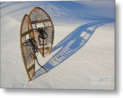 Snowshoes I Metal Print by Jessie Parker
