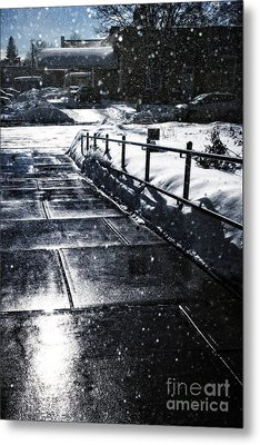 Snowy Afternoon Metal Print by HD Connelly