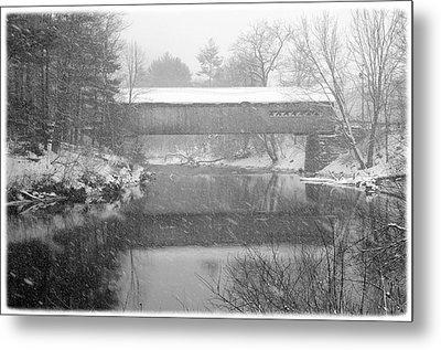 Snowy Crossing Metal Print by Luke Moore