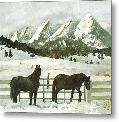Snowy Day Metal Print by Anne Gifford