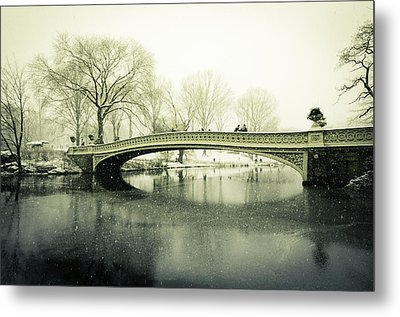 Snowy Day At The Park Metal Print