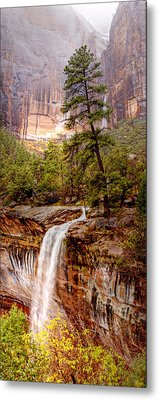 Snowy Day In Zion Metal Print