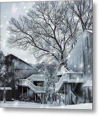 Snowy Day Metal Print by Lourry Legarde
