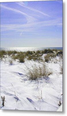 Snowy Dunes Metal Print by Karen Silvestri