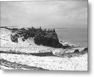 Metal Print featuring the photograph Snowy Dunluce 12/02/14 by Roy  McPeak