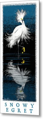 Metal Print featuring the digital art Snowy Egret by Aaron Blaise