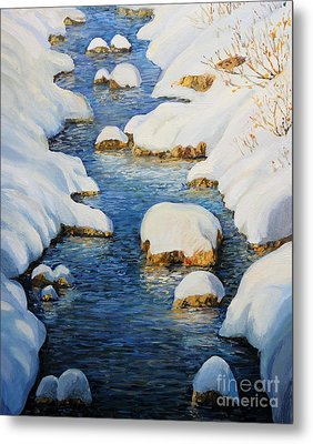 Snowy Fairytale River Metal Print by Kiril Stanchev
