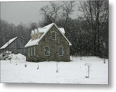 Metal Print featuring the photograph Snowy Garage by Andy Lawless