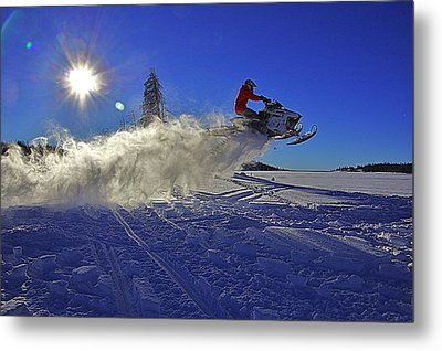 Snowy Launch Metal Print by Matt Helm