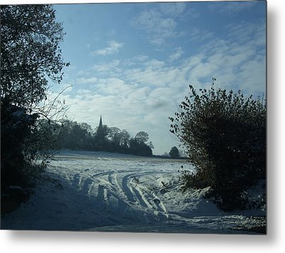 Metal Print featuring the photograph Snowy Morning by Jean Walker
