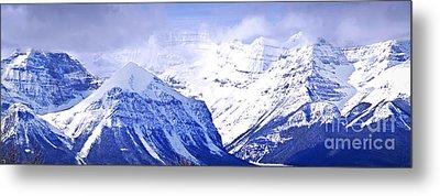 Snowy Mountains Metal Print by Elena Elisseeva
