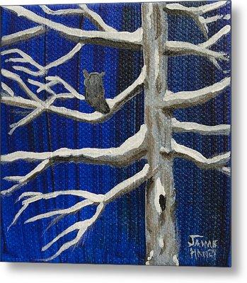 Snowy Night Metal Print by Jaime Haney