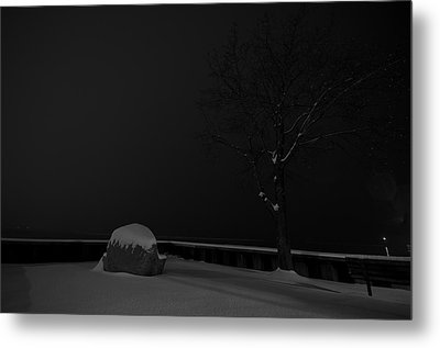 Snowy Night Metal Print by Mike Horvath