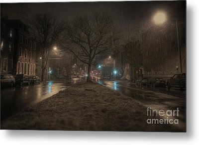 Snowy Nights Metal Print by Kenny  Noddin