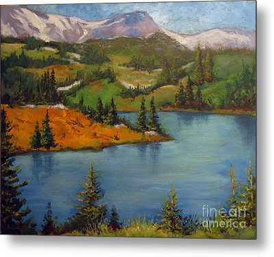 Metal Print featuring the painting Snowy Range by Carol Hart