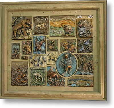 Metal Print featuring the sculpture Snowy Range Life - Large Panel by Dawn Senior-Trask
