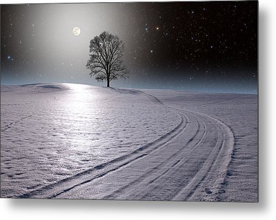 Metal Print featuring the photograph Snowy Road by Larry Landolfi