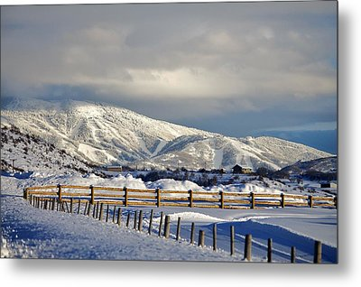 Snowy Scene Metal Print by Matt Helm