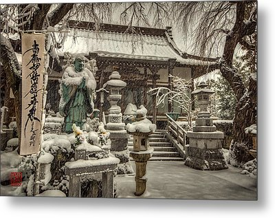 Metal Print featuring the photograph Snowy Temple by John Swartz