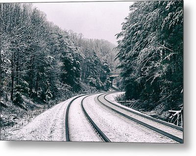 Snowy Travel Metal Print