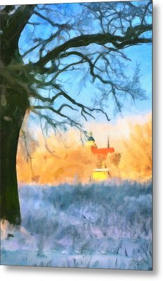 Snowy View Metal Print by Gynt