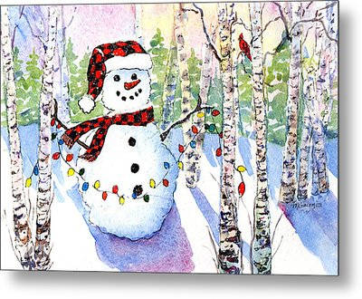 Snowy Wishes Metal Print