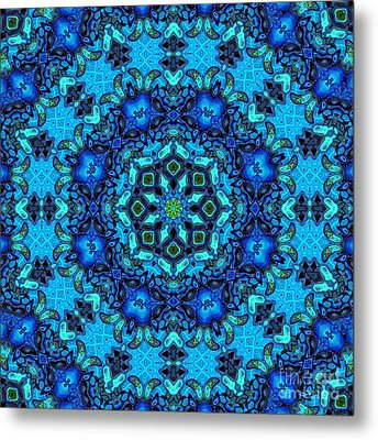 So Blue - 33 - Mandala Metal Print