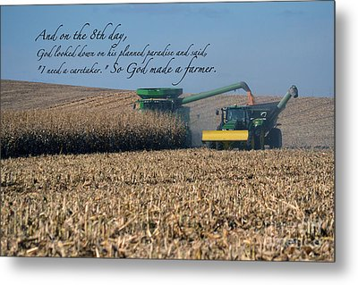 So God Made A Farmer Metal Print