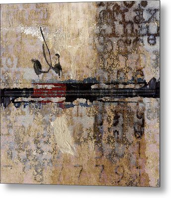 So Linear Square Metal Print by Carol Leigh