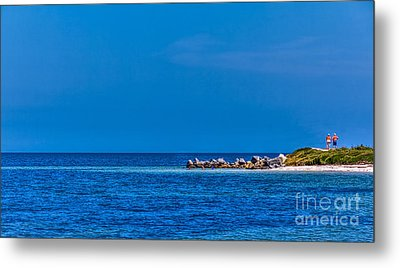 So This Is The Gulf Of Mexico Metal Print by Marvin Spates