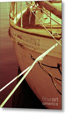 S.o. Wanderlust Altered Metal Print by Amanda Barcon