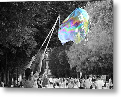 Soap Bubbles  Mix Metal Print