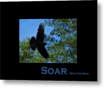 Soar With The Wind - Metal Print by Lesa Fine
