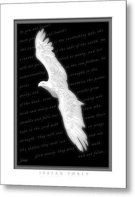 Soaring - Isaiah Forty Metal Print by Cliff Hawley