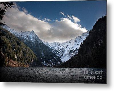 Soaring Mountain Lake Metal Print by Mike Reid