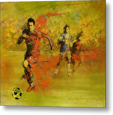 Soccer  Metal Print by Corporate Art Task Force